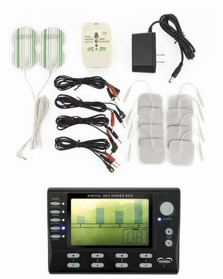 4 kanaals Electrosex Power box set met LCD display